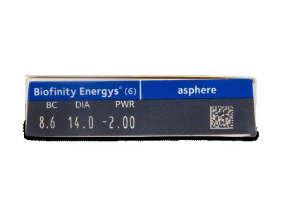 Biofinity Energys (6 lenses) - Attributes preview