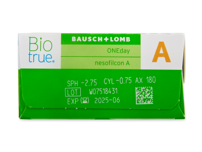 Biotrue ONEday for Astigmatism (30 lenses) - Attributes preview
