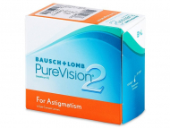 Toric Contact Lenses - PureVision 2 for Astigmatism (6 lenses)