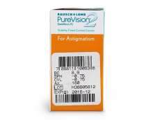 PureVision 2 for Astigmatism (6 lenses) - Attributes preview
