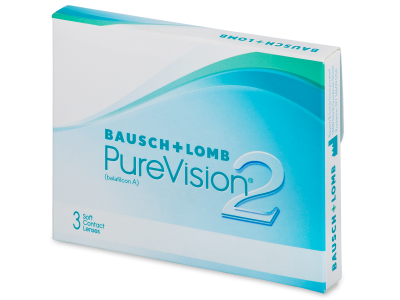 PureVision 2 (3 lenses) - Monthly contact lenses