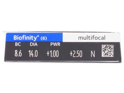 Biofinity Multifocal (6 lenses) - Attributes preview