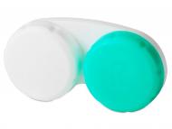 Contact Lens Case - Lens Case Green & White