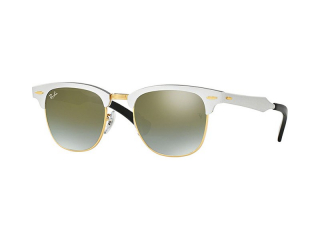 Browline sunglasses - Ray-Ban Clubmaster Aluminum RB3507 137/9J