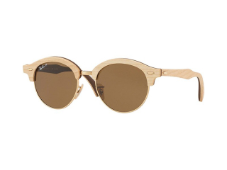 Retro sunglasses - Ray-Ban Clubround Wood RB4246M 117957