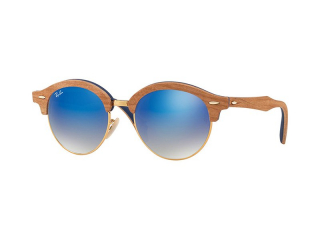 Retro sunglasses - Ray-Ban Clubround Wood RB4246M 11807Q