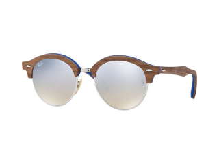 Retro sunglasses - Ray-Ban Clubround Wood RB4246M 12179U
