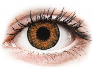 Brown contact lenses - dioptric - Air Optix Colors - Honey - power (2 lenses)