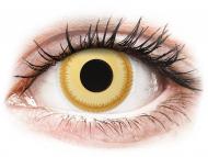 Yellow contact lenses - non dioptric - ColourVUE Crazy Lens - Avatar - plano (2 lenses)