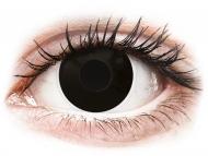 Black contact lenses - non dioptric - ColourVUE Crazy Lens - BlackOut - plano (2 lenses)