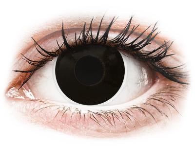 ColourVUE Crazy Lens - BlackOut - plano (2 lenses)