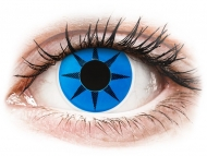 Blue contact lenses - non dioptric - ColourVUE Crazy Lens - Blue Star - plano (2 lenses)