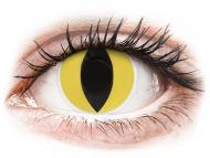 Yellow contact lenses - non dioptric - ColourVUE Crazy Lens - Cat Eye - plano (2 lenses)