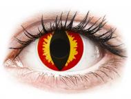 Yellow contact lenses - non dioptric - ColourVUE Crazy Lens - Dragon Eyes - plano (2 lenses)