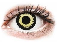 Yellow contact lenses - non dioptric - ColourVUE Crazy Lens - Eclipse - plano (2 lenses)