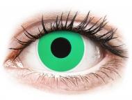 Special coloured lenses - non-dioptric - ColourVUE Crazy Lens - Emerald (Green) - plano (2 lenses)