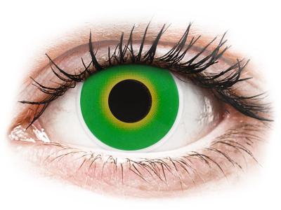 ColourVUE Crazy Lens - Hulk Green - plano (2 lenses)