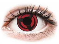 Red contact lenses - non dioptric - ColourVUE Crazy Lens - Kakashi - plano (2 lenses)