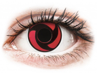 Red contact lenses - non dioptric - ColourVUE Crazy Lens - Mangekyu - plano (2 lenses)