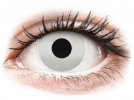 White contact lenses - non dioptric - ColourVUE Crazy Lens - Mirror - plano (2 lenses)