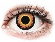 Special coloured lenses - non-dioptric - ColourVUE Crazy Lens - Orange Werewolf - plano (2 lenses)