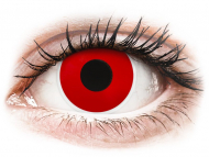 Red contact lenses - non dioptric - ColourVUE Crazy Lens - Red Devil - plano (2 lenses)