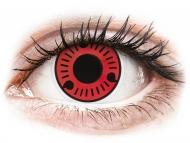 Red contact lenses - non dioptric - ColourVUE Crazy Lens - Sasuke - plano (2 lenses)