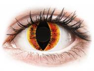 Yellow contact lenses - non dioptric - ColourVUE Crazy Lens - Saurons Eye - plano (2 lenses)