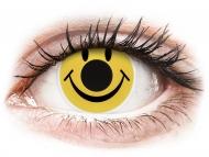 Yellow contact lenses - non dioptric - ColourVUE Crazy Lens - Smiley - plano (2 lenses)