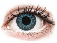 Blue contact lenses - non dioptric - ColourVUE Crazy Lens - Solar Blue - plano (2 lenses)