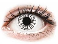 White contact lenses - non dioptric - ColourVUE Crazy Lens - Spider - plano (2 lenses)
