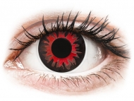 Red contact lenses - non dioptric - ColourVUE Crazy Lens - Volturi - plano (2 lenses)
