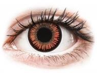 Orange contact lenses - non dioptric - ColourVUE Crazy Lens - Vampire - plano (2 lenses)