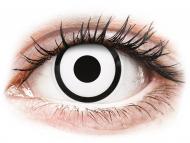 Special coloured lenses - non-dioptric - ColourVUE Crazy Lens - White Zombie - plano (2 lenses)