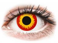 Yellow contact lenses - non dioptric - ColourVUE Crazy Lens - Wildfire - plano (2 lenses)