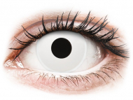 White contact lenses - non dioptric - ColourVUE Crazy Lens - WhiteOut - plano (2lenses)