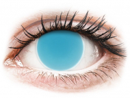 Blue contact lenses - non dioptric - ColourVUE Crazy Glow Electric Blue - plano (2lenses)