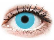 Blue contact lenses - non dioptric - ColourVUE Crazy Glow Blue - plano (2lenses)