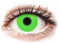 Special coloured lenses - non-dioptric - ColourVUE Crazy Glow Green - plano (2lenses)