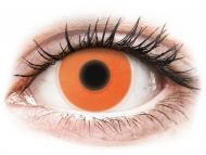Orange contact lenses - non dioptric - ColourVUE Crazy Glow Orange - plano (2lenses)