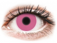 Pink contact lenses - non dioptric - ColourVUE Crazy Glow Pink - plano (2 lenses)