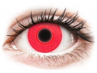 Red contact lenses - non dioptric - ColourVUE Crazy Glow Red - plano (2 lenses)