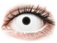 White contact lenses - non dioptric - ColourVUE Crazy Glow White - plano (2lenses)