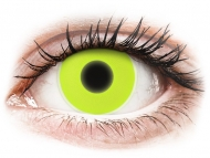 Yellow contact lenses - non dioptric - ColourVUE Crazy Glow Yellow - plano (2lenses)