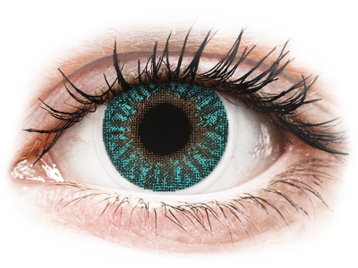 TopVue Color - Turquoise - plano (2 lenses)
