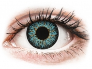 Blue contact lenses - dioptric - ColourVUE Glamour Aqua - power (2 lenses)