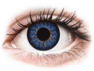 Blue contact lenses - dioptric - ColourVUE Glamour Blue - power (2 lenses)