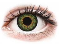 Power coloured lenses - ColourVUE Glamour Green - power (2lenses)