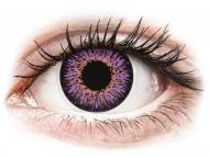 Purple contact lenses - non dioptric - ColourVUE Glamour Violet - plano (2lenses)