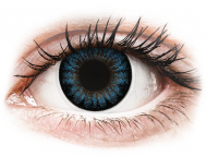 Coloured contact lenses - ColourVUE BigEyes Cool Blue - power (2 lenses)